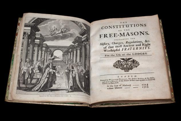 Anderson's Book of Constitutions (1723) ©Museum of Freemasonry