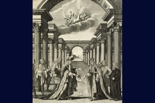 Frontispiece from Anderson's Constitutions, 1723 ©Museum of Freemasonry