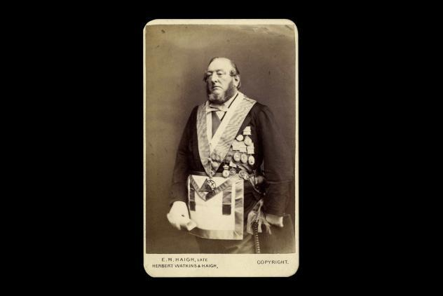 Rev. AFA Woodford cabinet card portrait c.1875 ©Museum of Freemasonry, London